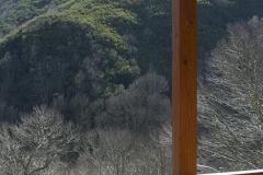 Vistas a la montaña desde el balcón Casa As Triegas