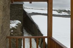 Vista exterior del balcón Casa As Triegas