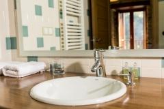 Detalle del baño de una habitación Casa As Triegas