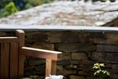 Detalle del mobiliario de la terraza