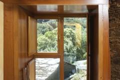 Vista ó exterior desde a habitación da planta alta